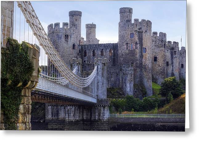 Conwy Castle - Wales Greeting Card by Joana Kruse