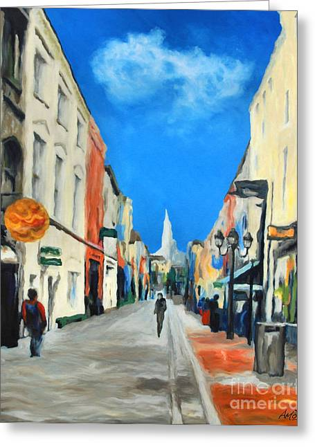 Cook Street   Cork Ireland Greeting Card by Anne Marie ODriscoll