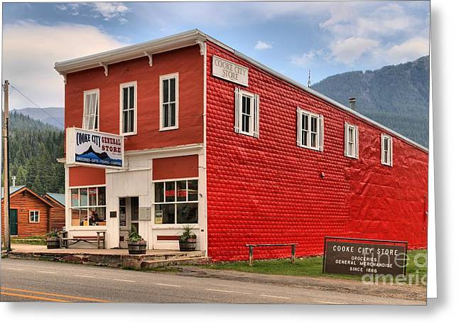 Cooke City Mt Store Greeting Card by Adam Jewell