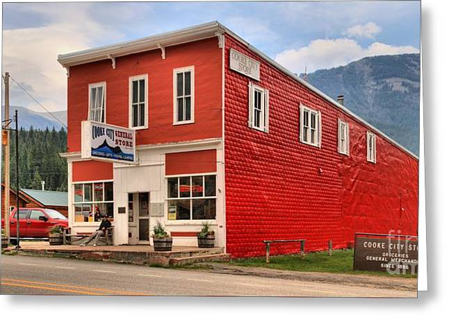 Cooke Greeting Cards - Cooke City Store Greeting Card by Adam Jewell