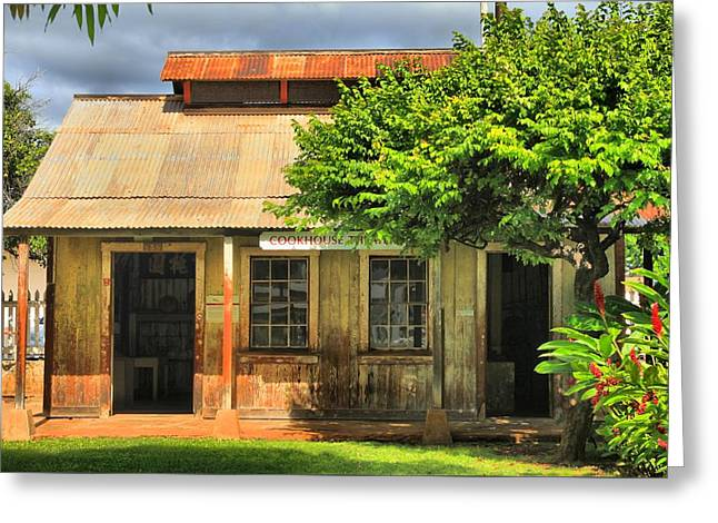 Cookhouse Theater Lahaina Greeting Card by DJ Florek