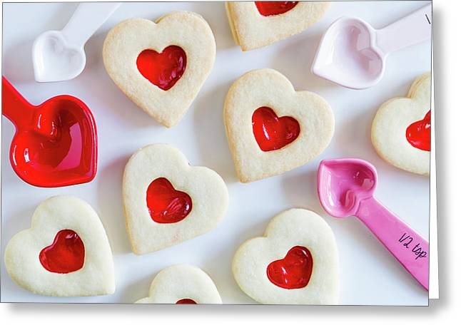 Cookie Baking Love Greeting Card by Teri Virbickis