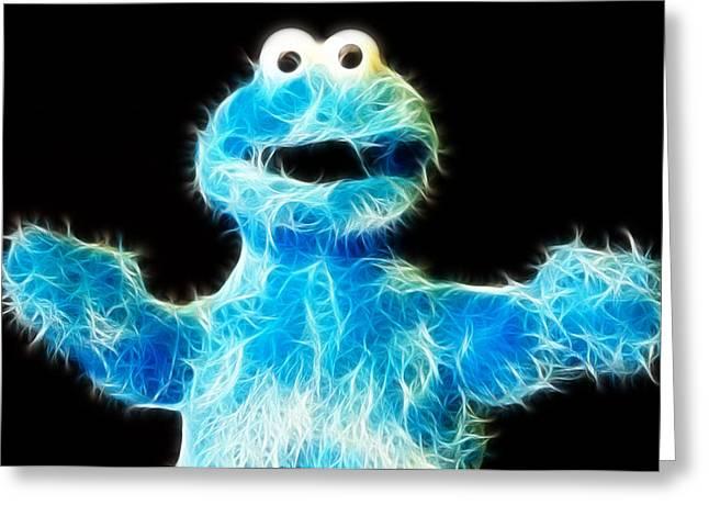 Cookie Monster - Sesame Street - Jim Henson Greeting Card by Lee Dos Santos