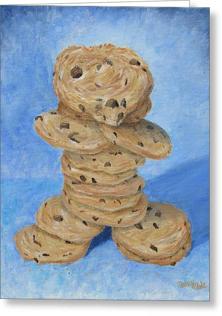 Greeting Card featuring the painting Cookie Monster by Nancy Nale