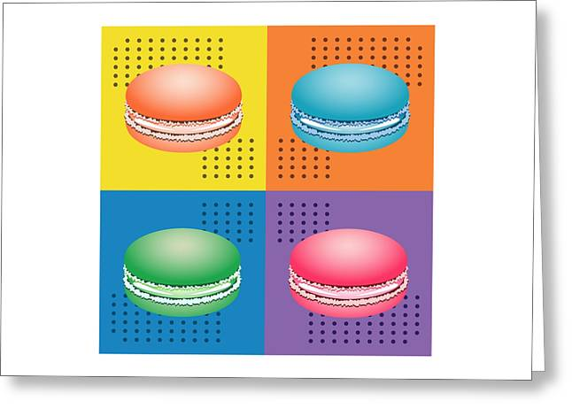 Cookie Squares Pop Art Greeting Card by MM Anderson