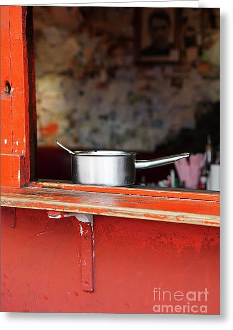 Cooking Pot Greeting Card by Jasna Buncic