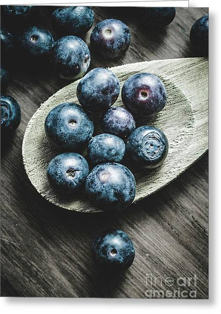 Cooking With Blueberries Greeting Card