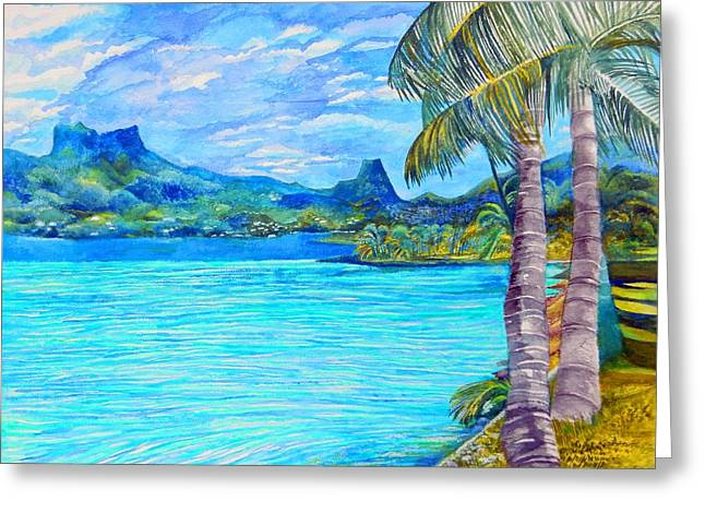 Cooks Bay Moorea Greeting Card