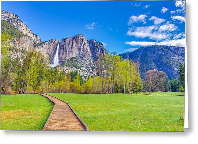 Greeting Card featuring the photograph Cook's Meadow Yosemite National Park by Scott McGuire