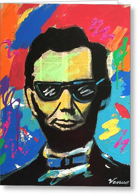 Cool Abraham Lincoln Greeting Card by Venus