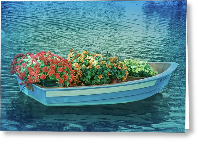 Greeting Card featuring the photograph Cool Blue Boat Parade by Aimee L Maher Photography and Art Visit ALMGallerydotcom
