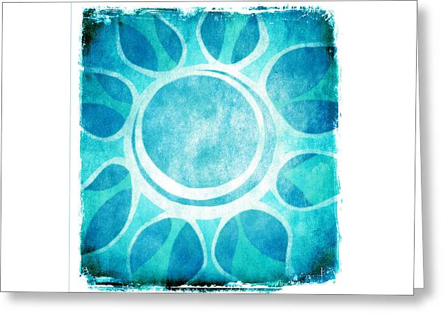 Cool Blue Flower Greeting Card