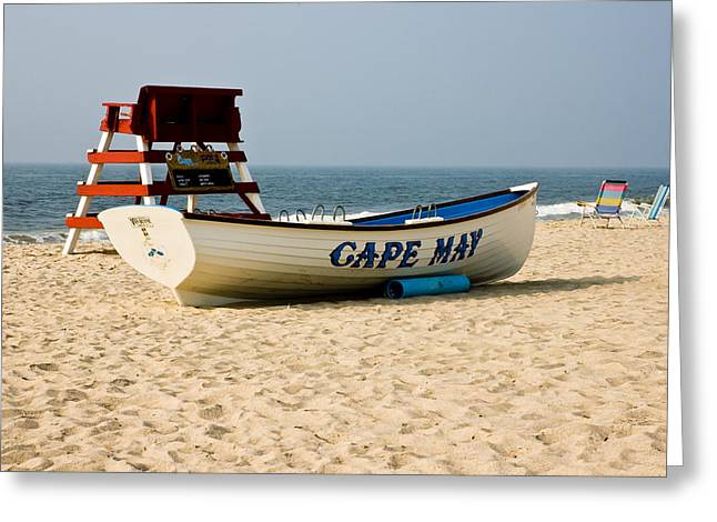 Greeting Card featuring the photograph Cool Cape May Beach by Louis Dallara