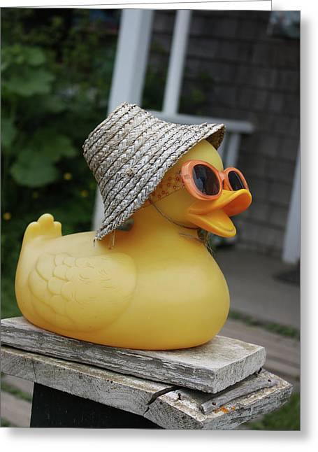 Cool Ducky Greeting Card