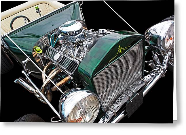 Cool Ford T Bucket Hot Rod Greeting Card by Gill Billington