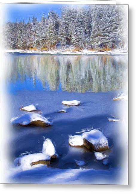 Cool Impression Greeting Card by Chris Brannen