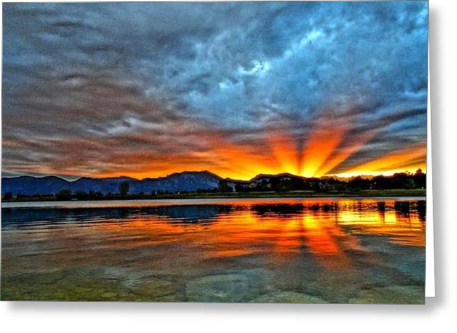 Greeting Card featuring the photograph Cool Nightfall by Eric Dee