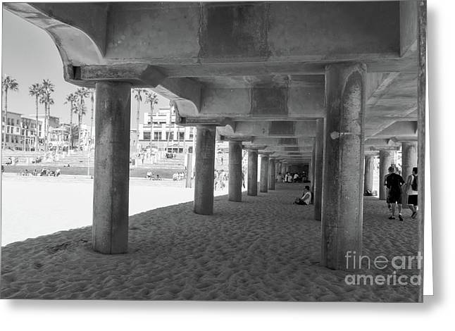 Greeting Card featuring the photograph Cool Off In The Shade Of The Pier by Ana V Ramirez