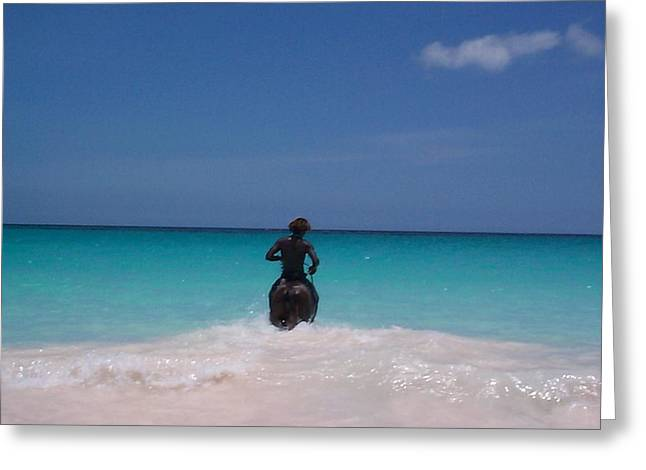 Greeting Card featuring the photograph Cool Off Man by Mary-Lee Sanders