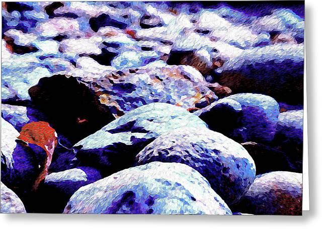 Greeting Card featuring the photograph Cool Rocks- by JD Mims