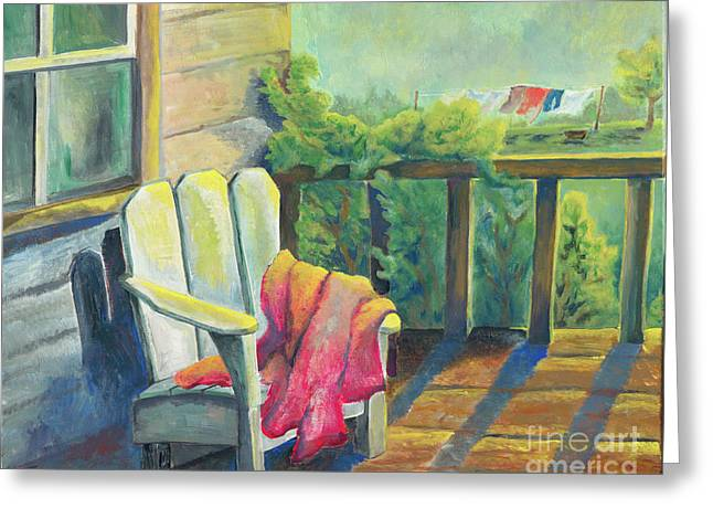 Cool Spring Morning Greeting Card by Judith Whittaker