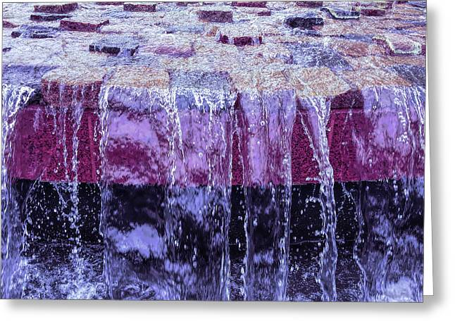 Cool Sunset Waterfall Abstract Greeting Card