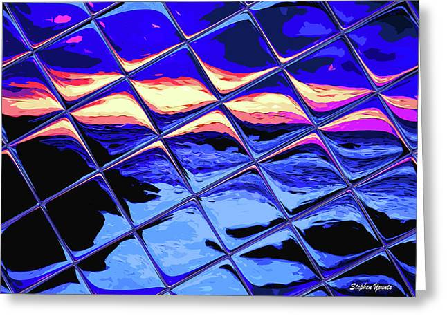 Cool Tile Reflection Greeting Card by Stephen Younts