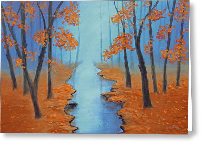 Cool Warmth Of Autumn Greeting Card by Ken Figurski