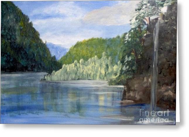 Greeting Card featuring the painting Cool Water by Saundra Johnson