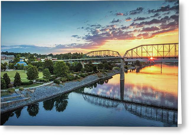 Coolidge Park Sunrise Panoramic Greeting Card