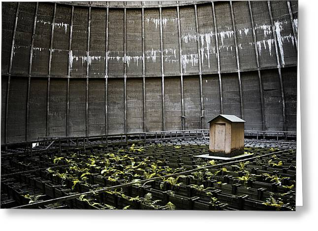 Greeting Card featuring the photograph Cooling Tower Petit Maison by Dirk Ercken