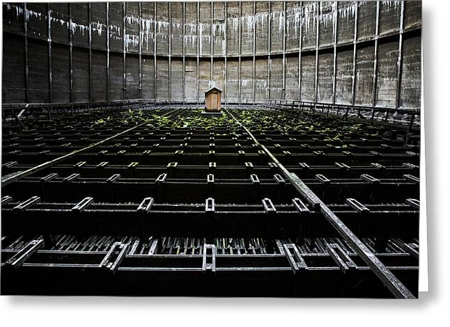 Greeting Card featuring the photograph Cooling Tower Water Distribution by Dirk Ercken