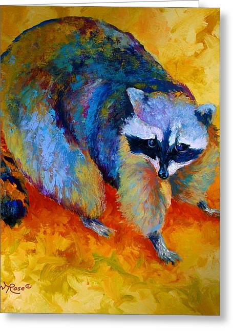 Coon Greeting Card by Marion Rose