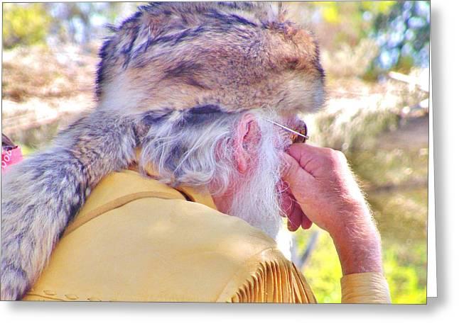 Coonskin Hat Greeting Card