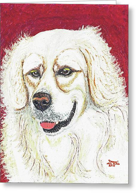 Greeting Card featuring the painting Cooper II by Ania M Milo