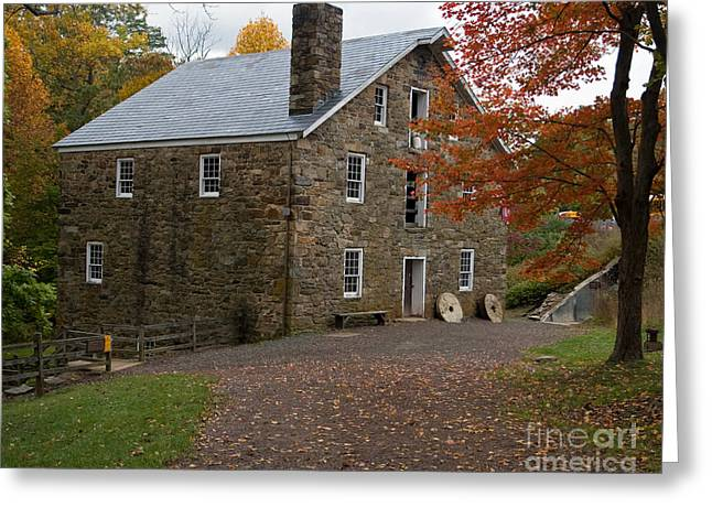 Cooper Mill Fall Greeting Card by Robert Pilkington