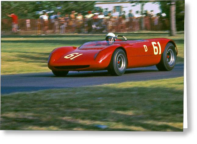 Cooper Monoco At Racing Speed Greeting Card by Fred Lassmann