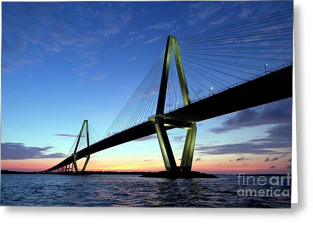 Cooper River Bridge Charleston Sc Greeting Card
