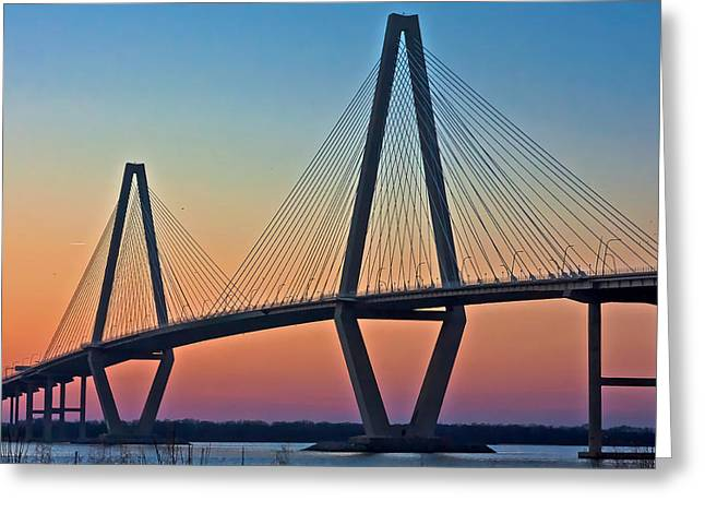 Cooper River Bridge Sunset Greeting Card