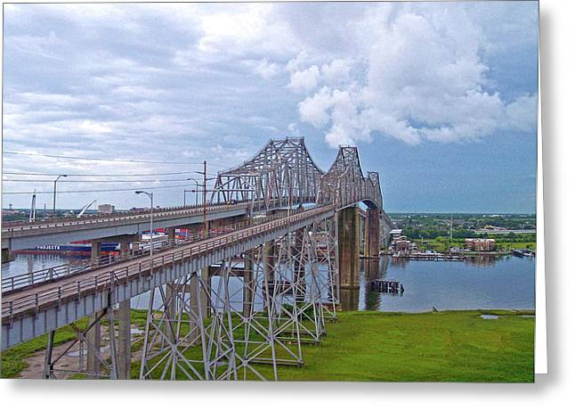 Donnie Smith Greeting Cards - Cooper River Bridges Greeting Card by Donnie Smith