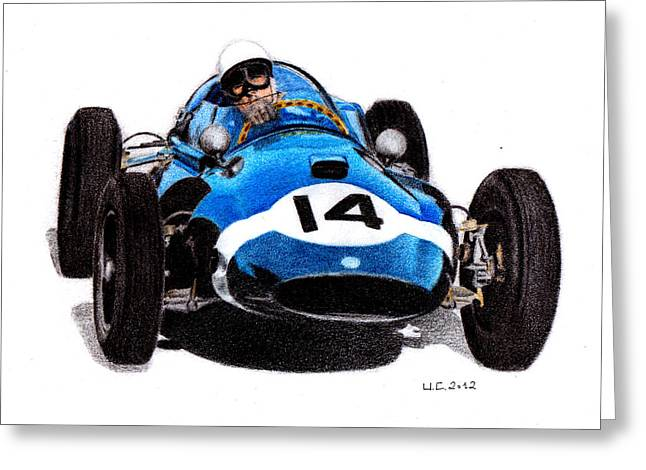 Cooper T51 Stirling Moss 1959 Greeting Card by Ugo Capeto
