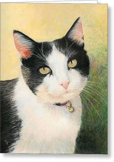 Cooper The Most Handsome Greeting Card by Mary Rogers