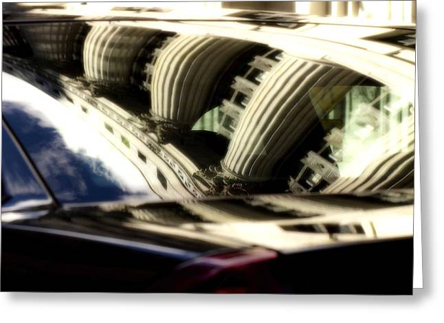 Cop Car Abstract Greeting Card by Sven Brogren