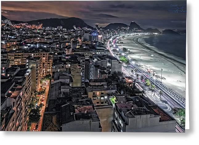 Copacabana Lights Greeting Card