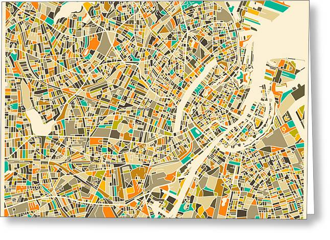 Copenhagen Map Greeting Card