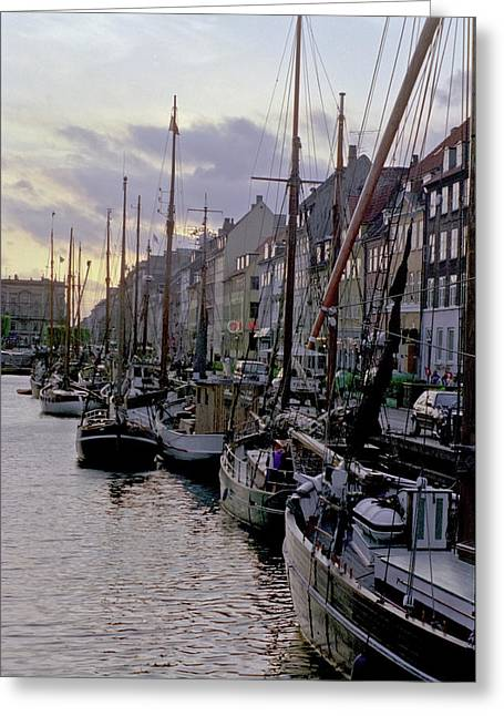 Copenhagen Quay Greeting Card
