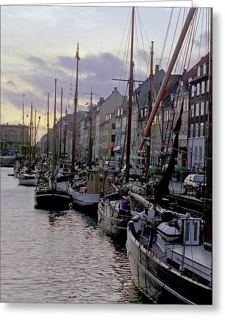 Copenhagen Quay Greeting Card