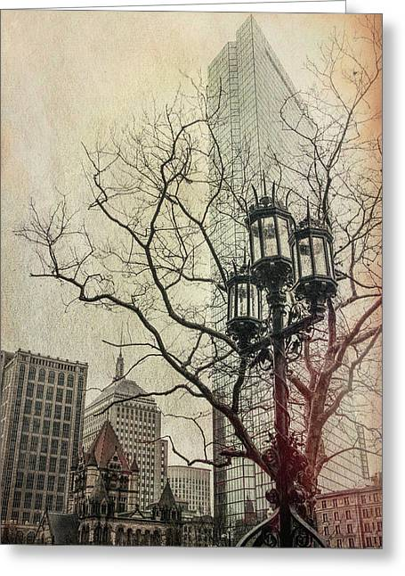 Greeting Card featuring the photograph Copley Square - Boston by Joann Vitali