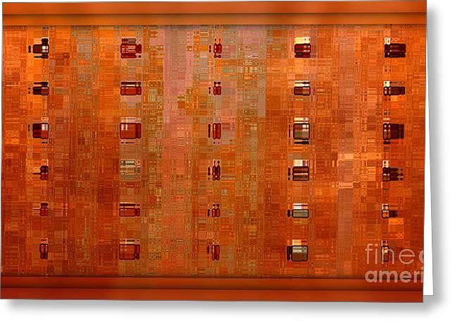 Copper Abstract Greeting Card by Carol Groenen