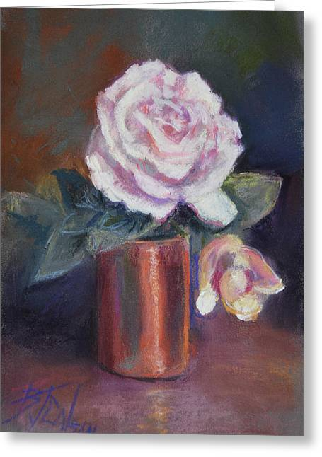 Copper And Rose Greeting Card by Billie Colson